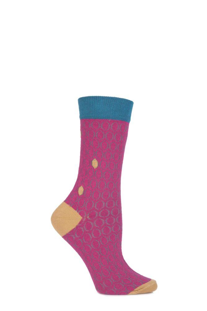 Ladies 1 Pair Urban Knit Bubble Effect Cotton Socks 25% OFF