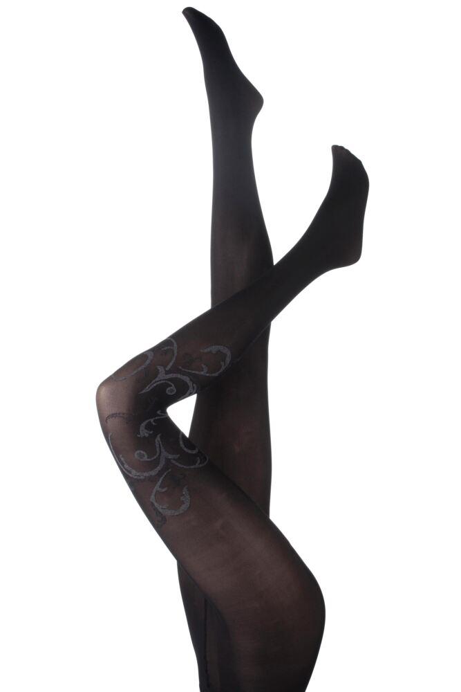 Ladies 1 Pair Levante Imelda Baroque Patterned Semi Sheer Tights 75% OFF