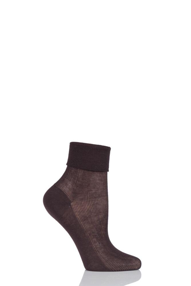 Ladies 1 Pair Charnos 100% Cotton Comfort Top Socks