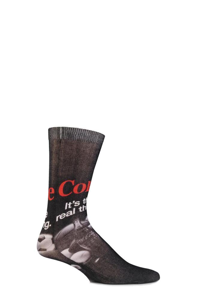 Mens 1 Pair Coca Cola The Real Thing Printed Socks