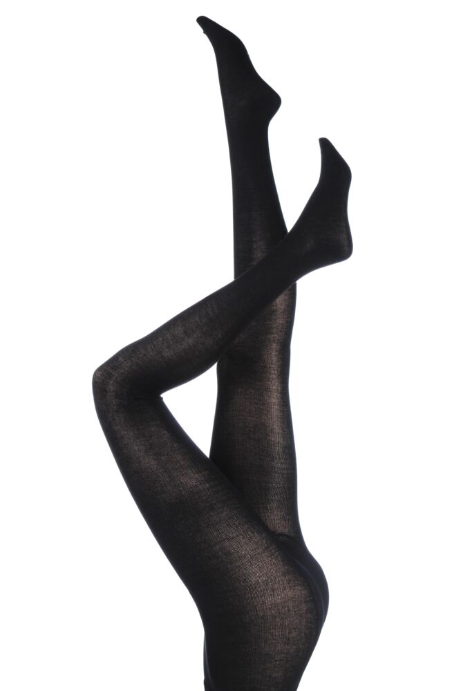 Ladies 1 Pair SockShop Plain Bamboo Tights