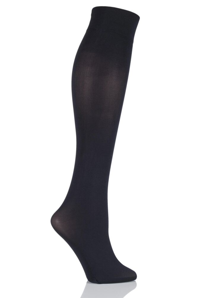 Ladies 1 Pair Pretty Polly Sweet Steps 60 Denier Opaque Knee Highs with Odour Control