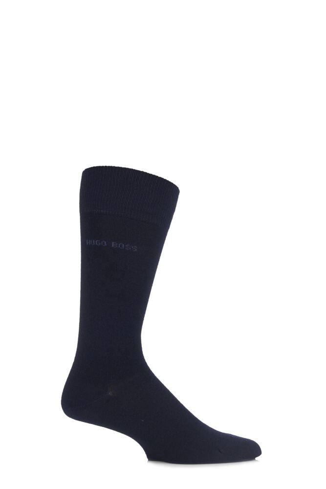 Mens 1 Pair Hugo Boss Edward Plain 85% Soft Bamboo Socks