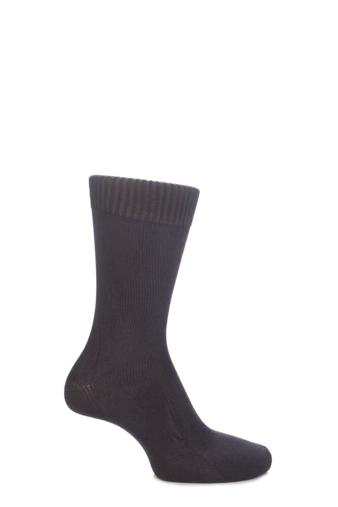 Mens and Ladies 1 Pair SockShop of London Bamboo Plain Knit True Socks