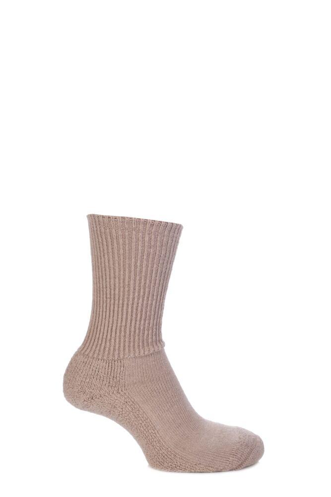 Mens and Ladies 1 Pair SockShop of London Alpaca Ribbed Boot Socks With Cushioning