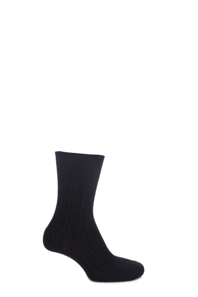 Mens and Ladies 1 Pair SockShop of London Bamboo Short Ribbed Boot Socks With Cushioning
