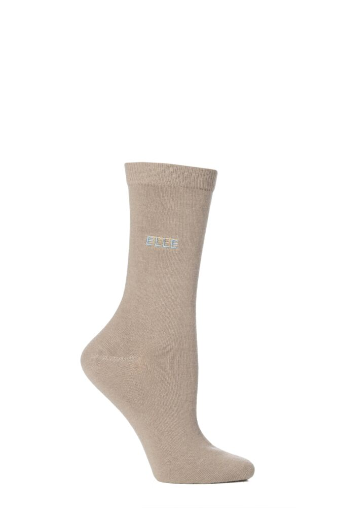 Ladies 1 Pair Elle Wool and Viscose Plain Socks
