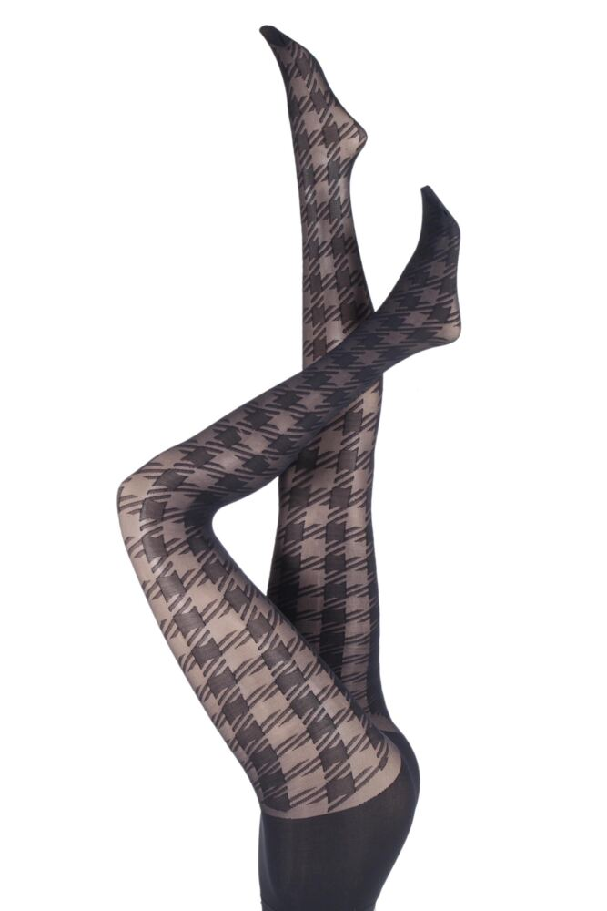 Ladies 1 Pair Pretty Polly House of Holland Gingham Check Tights 25% OFF