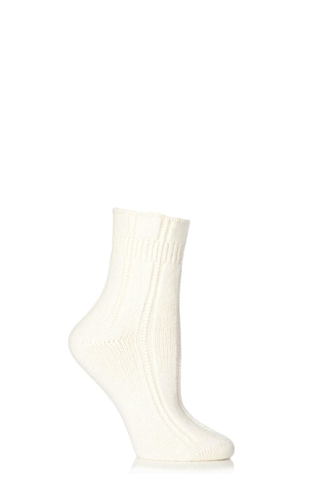 Ladies 1 Pair Falke Angora Bedsock