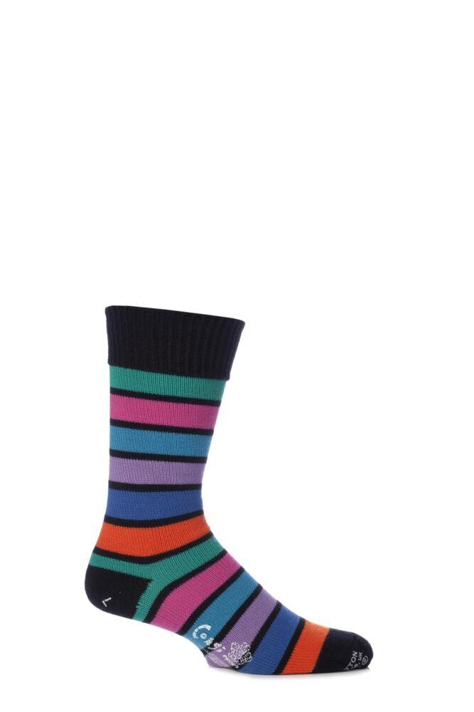 Mens 1 Pair Corgi 100% Cotton Stripe Socks