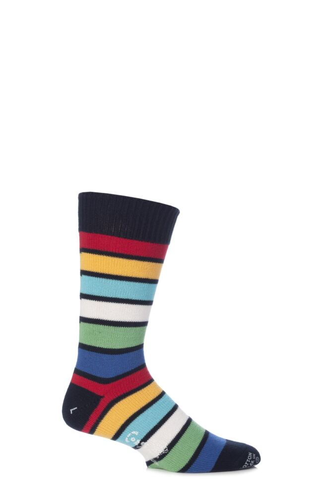 Mens 1 Pair Corgi 100% Cotton Stripe Socks