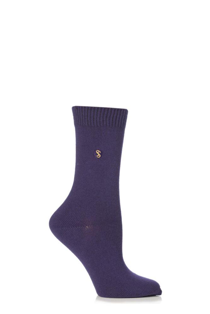 Ladies 1 Pair SockShop Colour Burst Cotton Socks