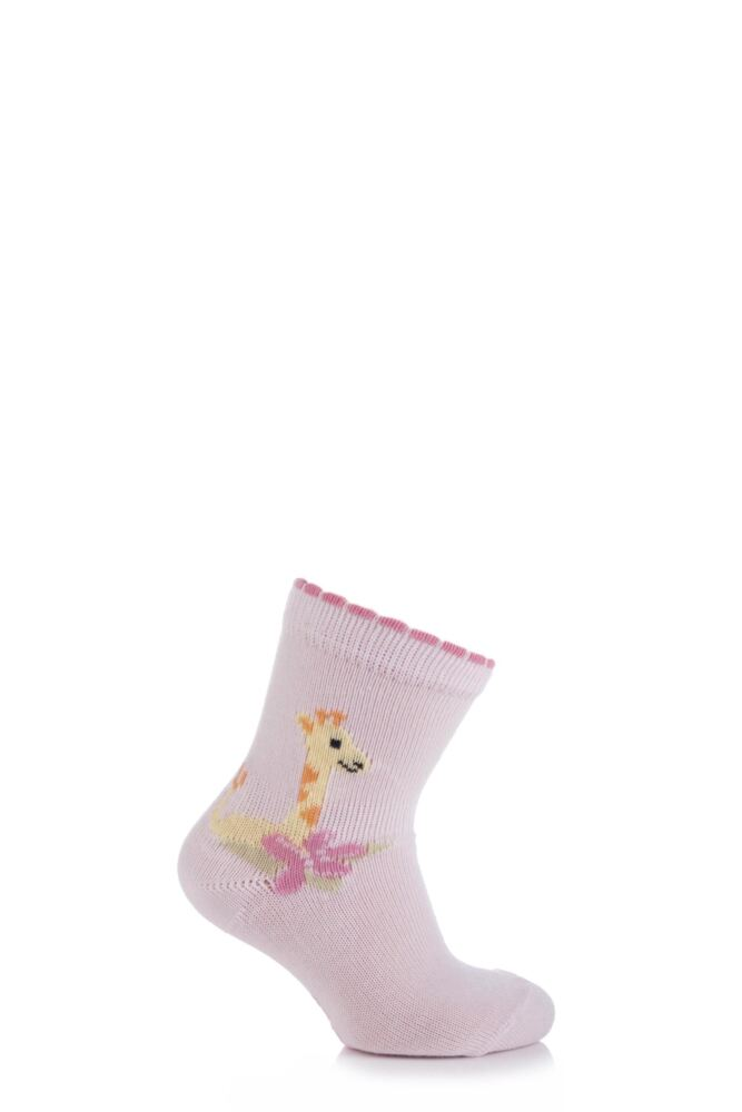 Babies 1 Pair Falke Cotton Giraffe Socks