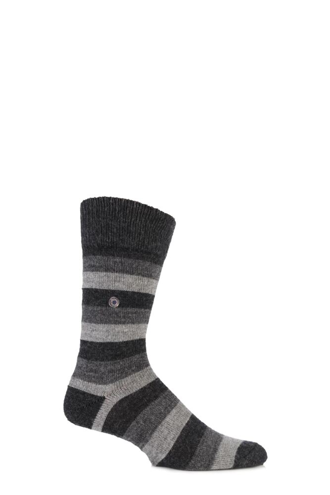 Mens 1 Pair Burlington Newport Stripe Socks