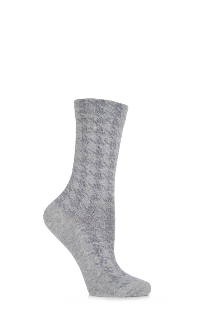 Ladies 1 Pair Falke Houndstooth Angora Socks