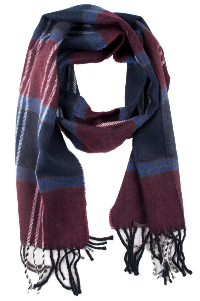 Mens SockShop James Soft Acrylic Chequered Scarf