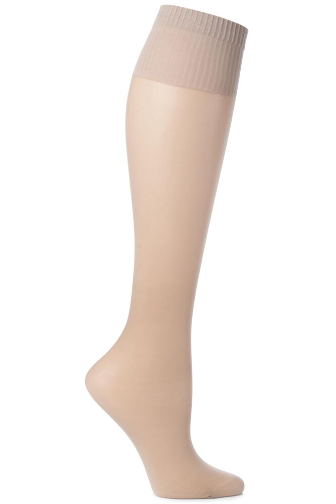 Ladies 2 Pair Aristoc 15 Denier Medium Support Knee Highs In 2 Colours