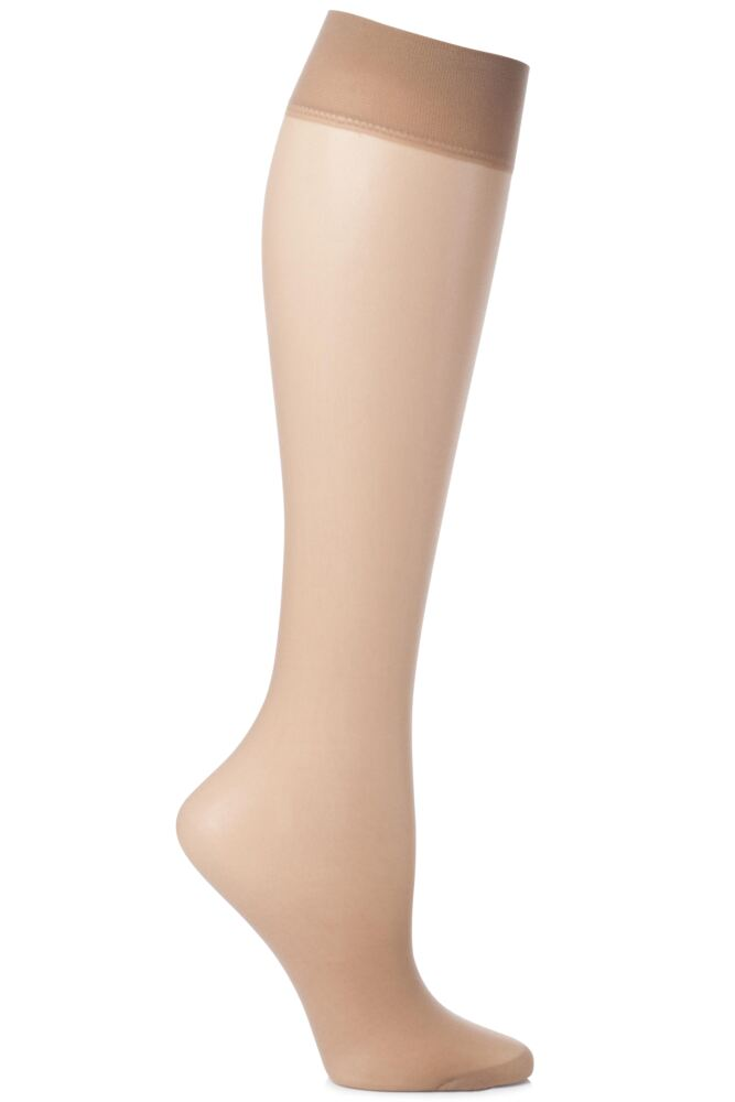 Ladies 2 Pair Charnos 15 Denier Trouserwear Knee Highs In 2 Colours