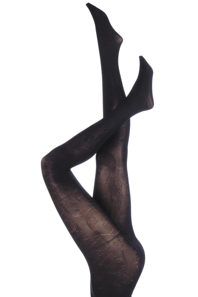 Ladies 1 Pair Trasparenze Lira Floral Glimmer Tights