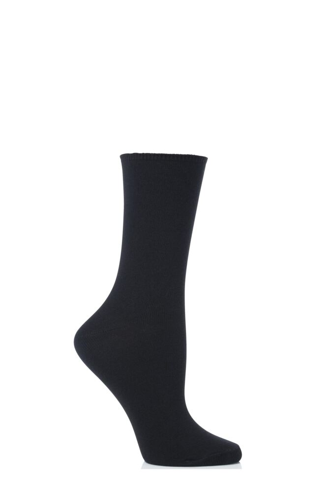 Ladies 2 Pair Levante Comfort Top Crew Socks