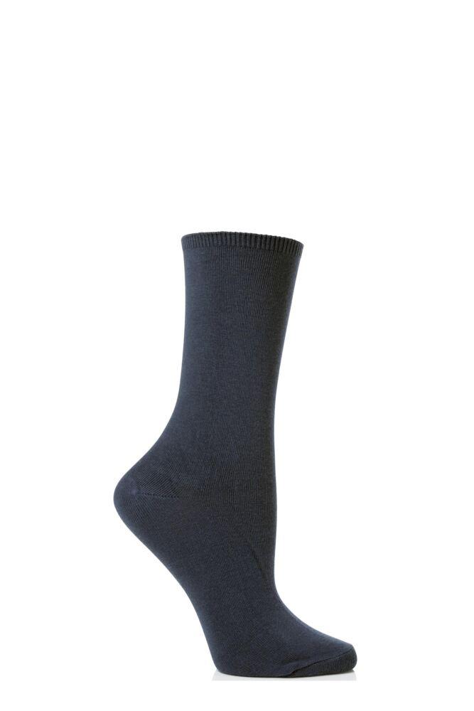 Ladies 2 Pair Levante Comfort Top Crew Socks