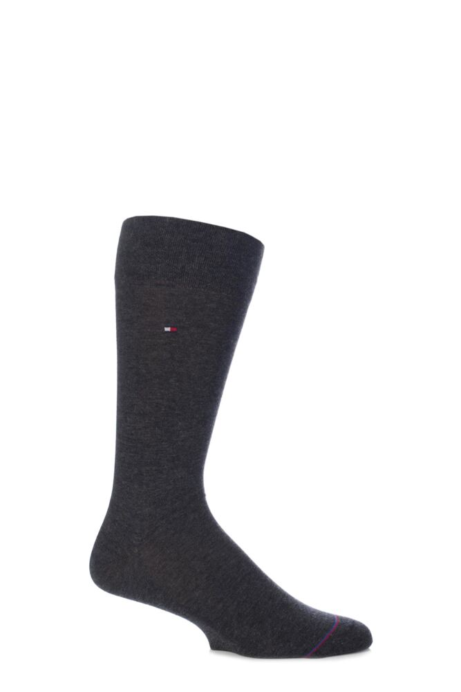 Mens 1 Pair Tommy Hilfiger Liberty Cashmere Blend Socks with Hand Linked Toe