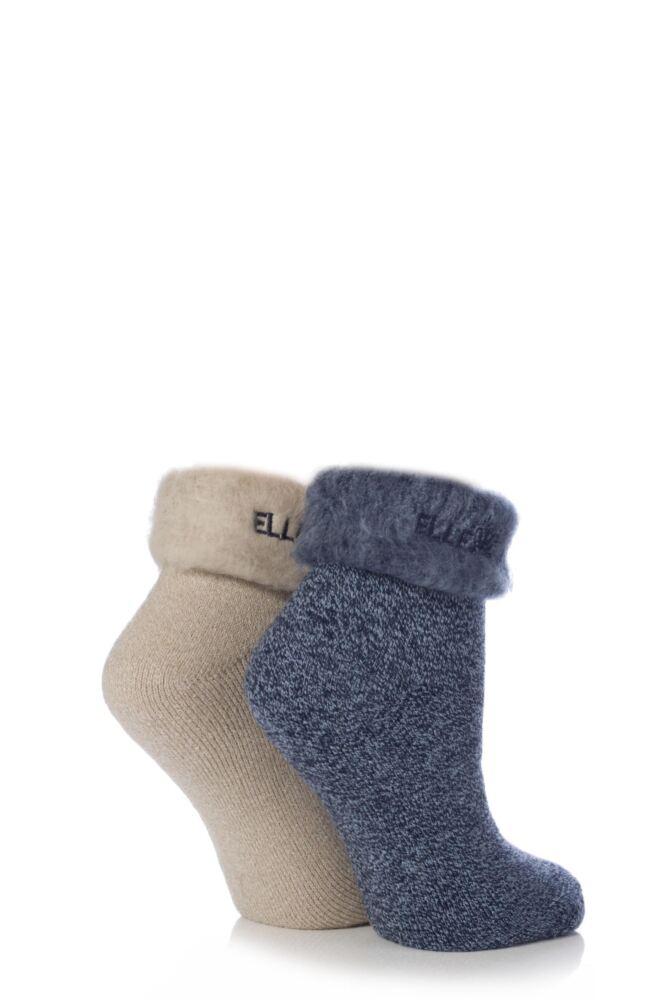 Ladies 2 Pair Elle Original Cosy Bed Socks