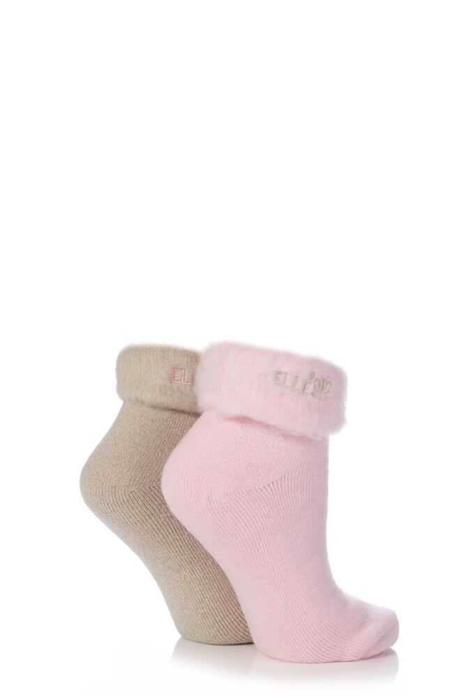Ladies 2 Pair Elle Original Cosy Bed Socks