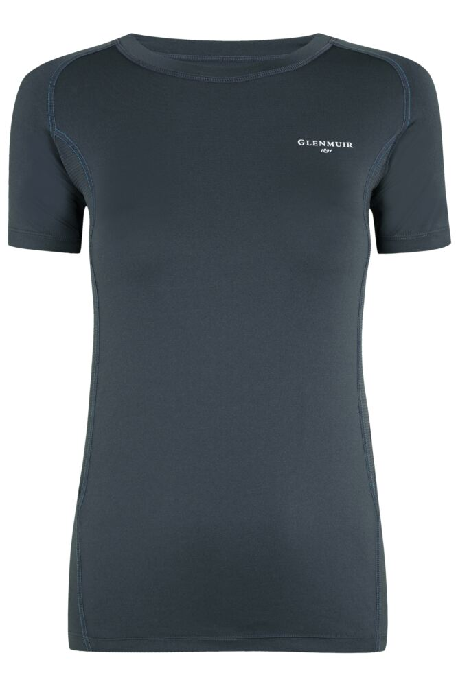 Ladies 1 Pack Glenmuir Short Sleeved Compression Base Layer T-Shirt