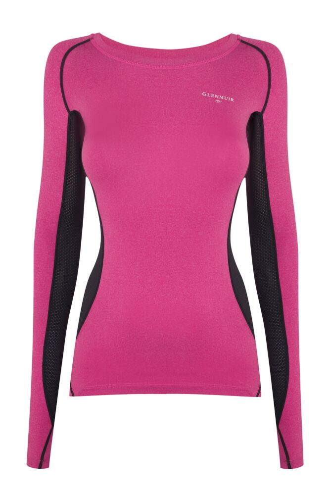Ladies 1 Pack Glenmuir Long Sleeved Compression Base Layer T-Shirt