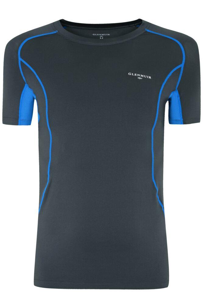 Mens 1 Pack Glenmuir Short Sleeved Compression Base Layer T-Shirt