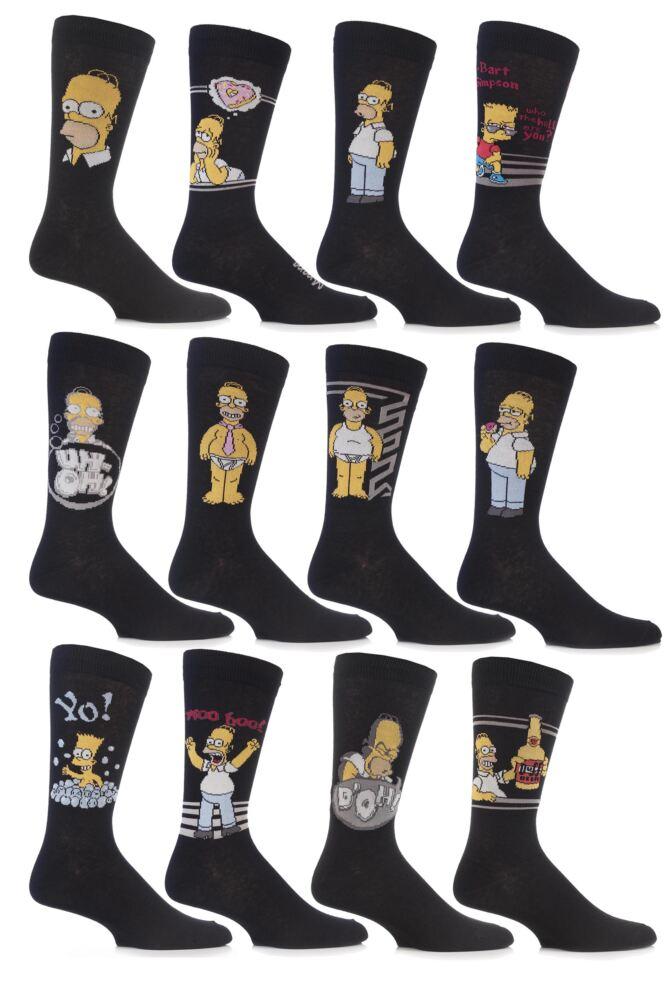 Mens 3 Pairs TM The Simpsons Socks