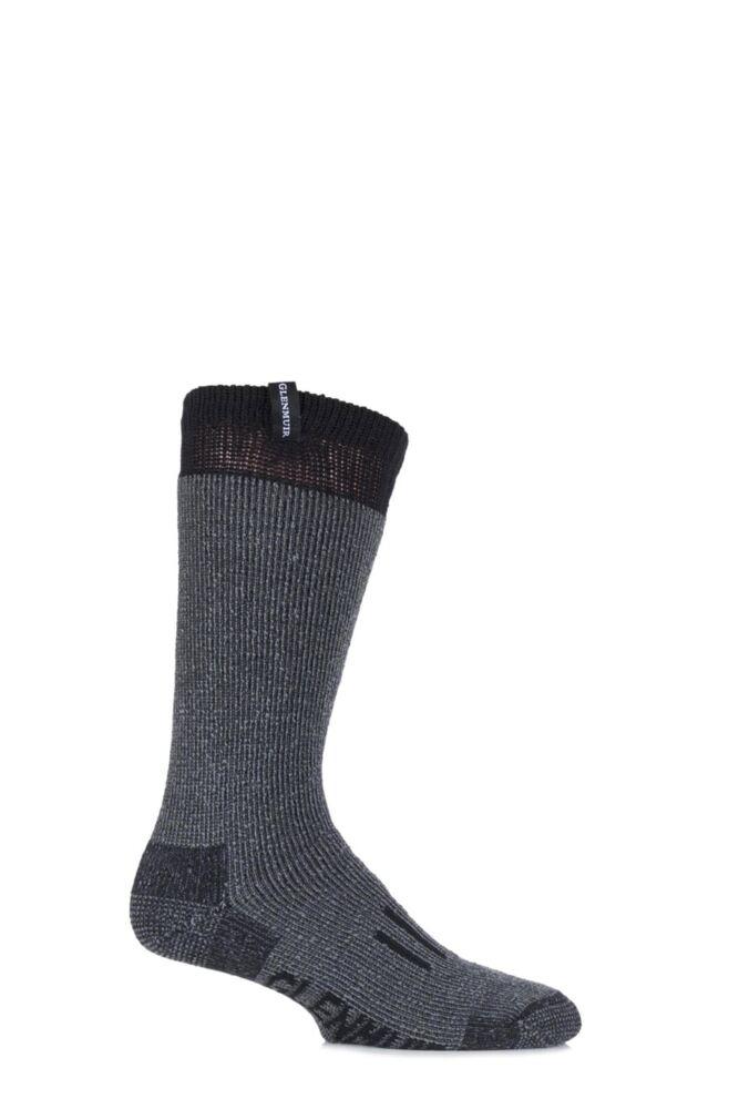 Mens 1 Pair Glenmuir Merino Wool Blend Heavy Duty Cushioned Boot Socks