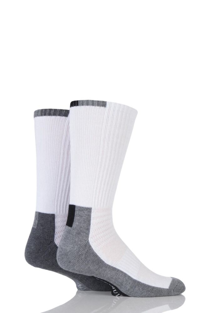 Mens 2 Pair Glenmuir Bamboo Sports Half Cushioned Socks With Arch Support