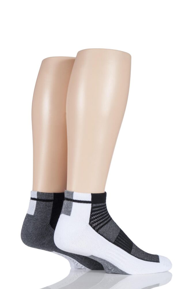 Mens 2 Pair Glenmuir Bamboo Secret Sports Half Cushioned Socks With Arch Support