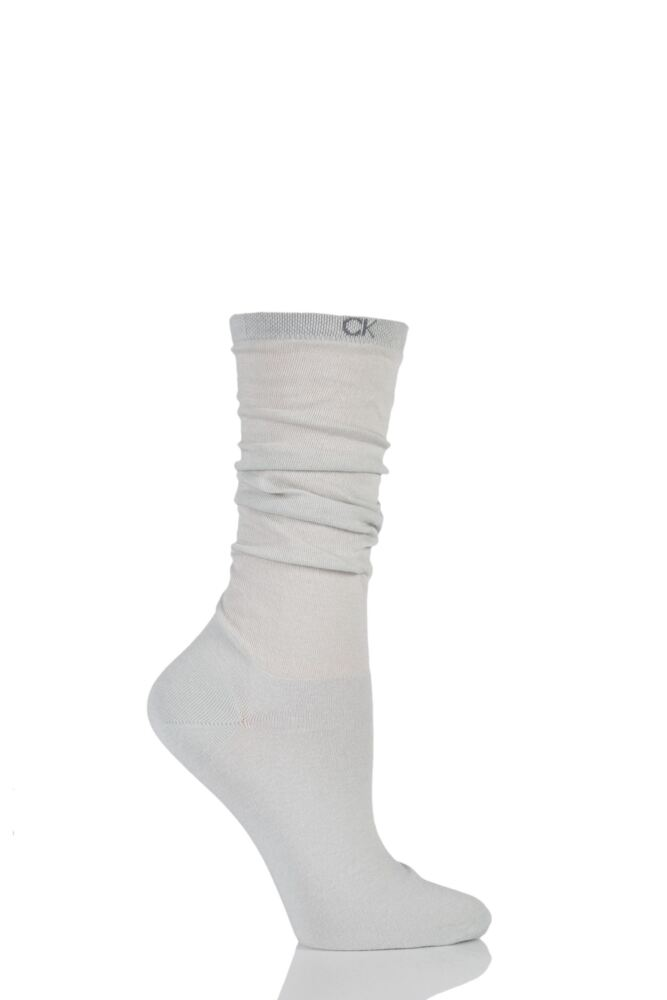 Ladies 1 Pair Calvin Klein Cotton Jersey Slouch Socks 25% OFF