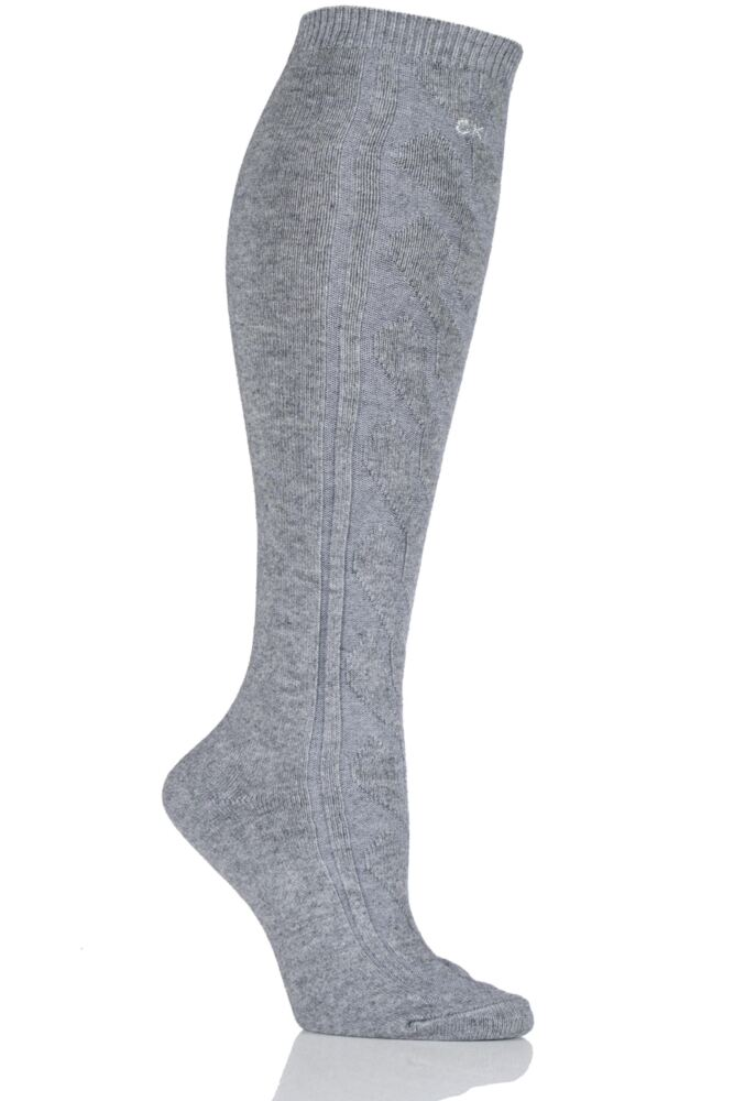 Ladies 1 Pair Calvin Klein Chunky Cable Holiday Socks 25% OFF
