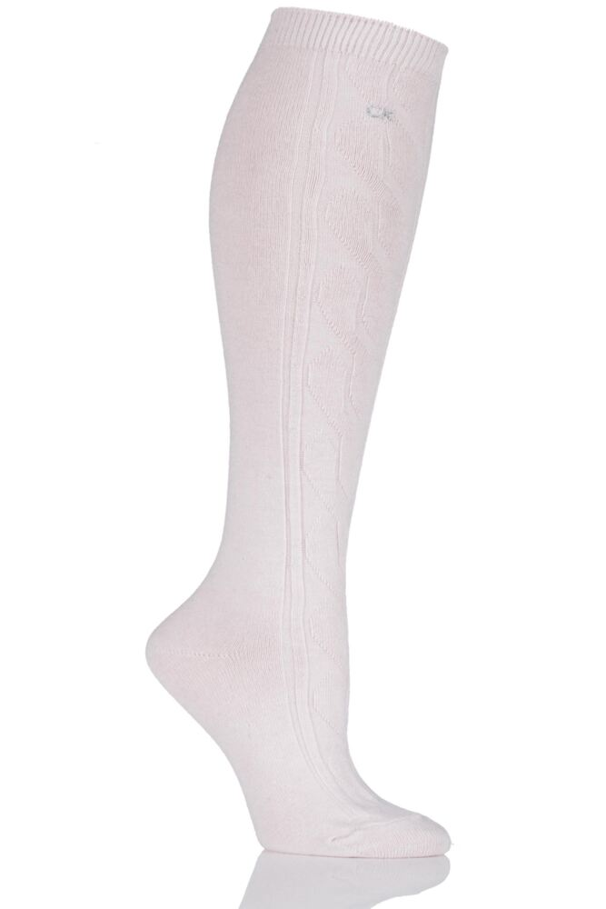 Ladies 1 Pair Calvin Klein Chunky Cable Holiday Socks