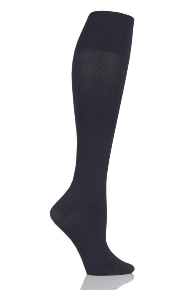 Ladies 1 Pair Elbeo Caresse Active Firm Support 60 Denier Opaque Knee Highs