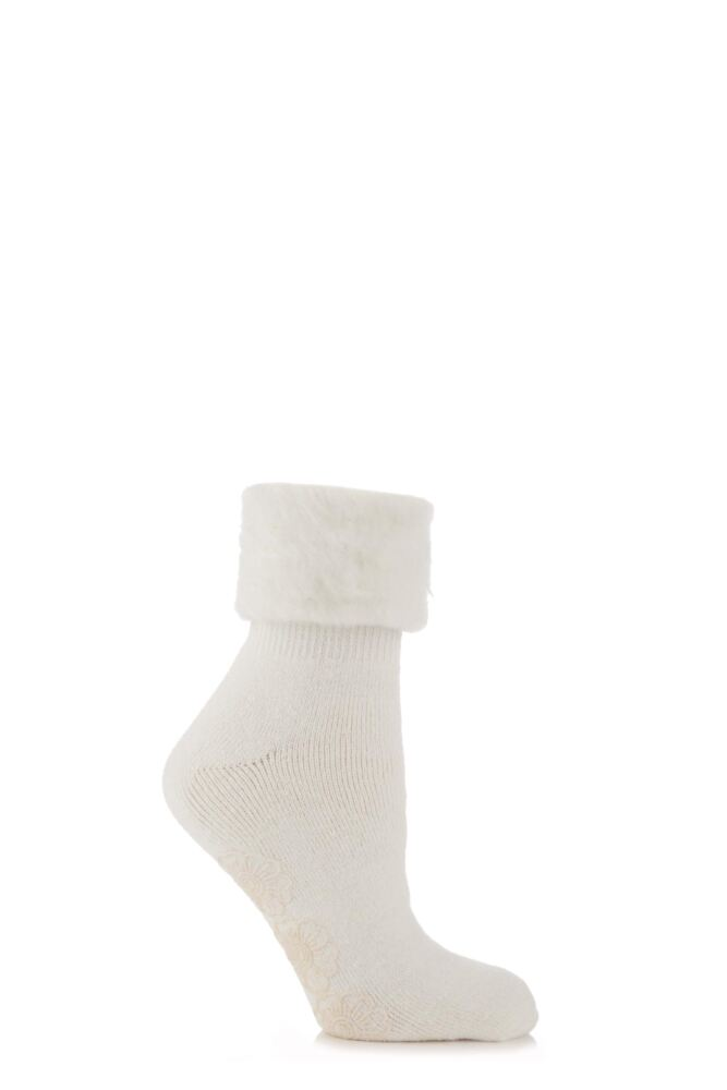 Ladies 1 Pair Elle Cosy Slipper Socks Gift Box