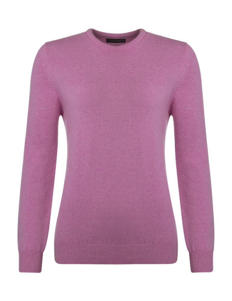 Ladies Great & British Knitwear Touch Of Cashmere Crew Neck Jumper