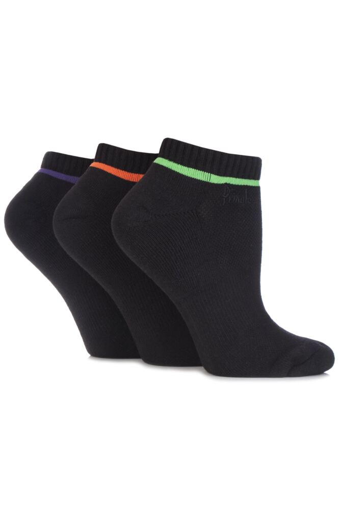 Ladies 3 Pair Pringle Johanne Cushion Trainer Socks In 4 Colours