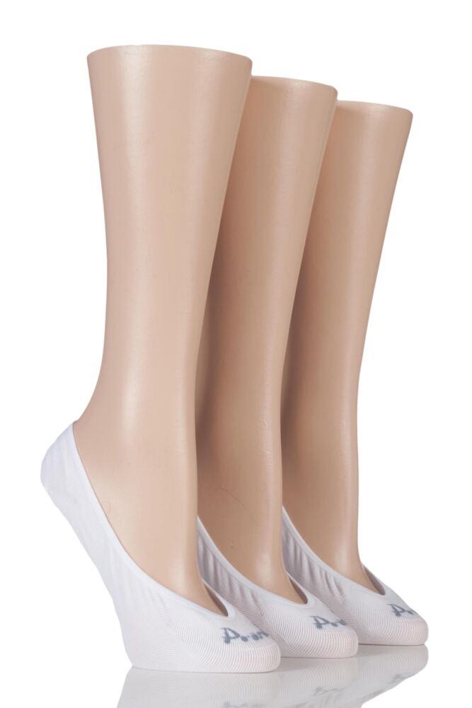 Ladies 3 Pair Pringle Maddie Fine Nylon Shoe Liners