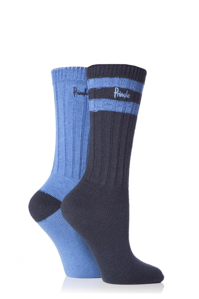 Ladies 2 Pair Pringle Lucy Leisure Socks