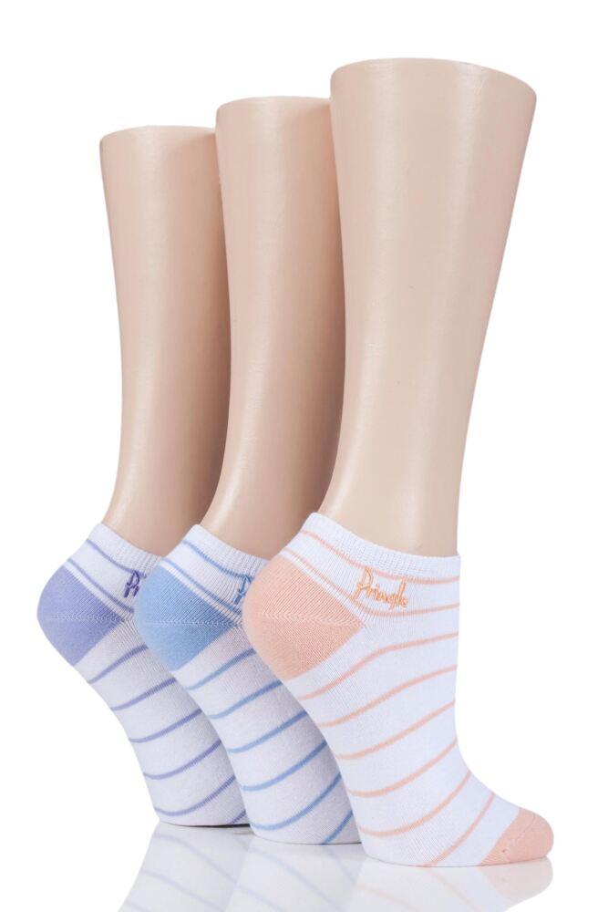 Ladies 3 Pair Pringle Plain and Patterned Secret Socks