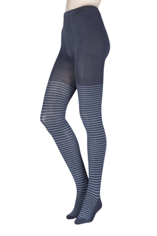 Ladies 1 Pair Elle Winter Soft Stripe Tights