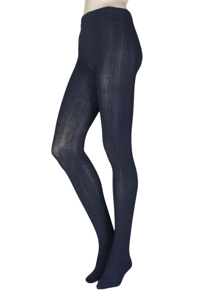 Ladies 1 Pair Elle Cable Knit Tights