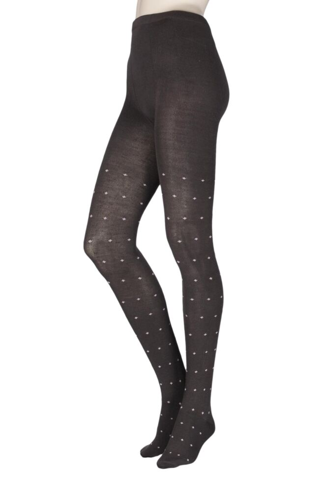 Ladies 1 Pair Elle Pattern Warm and Soft Winter Tights