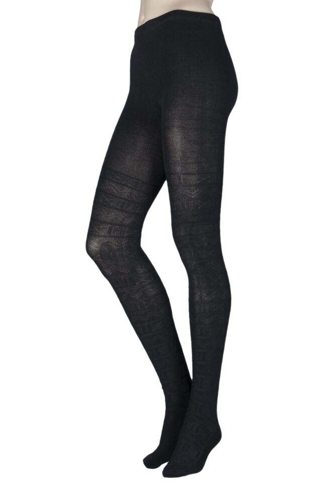 Ladies Elle Block Fair Isle Patterned Tights | SockShop