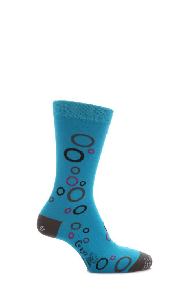 Mens 1 Pair Corgi Hoop Fine Cotton Socks